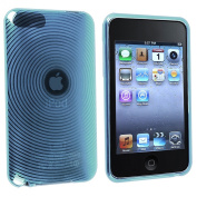 Everydaysource® Compatible With Apple®iPod®Gen2/3 Touch TPU Case , Clear Blue Con Circle