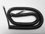 The VoIP Lounge Replacement 3.7m Black Handset Cord for Polycom SoundPoint IP Phone 301, 501, 601, 670, 321, 331, 335, 450, 550, 560, 650
