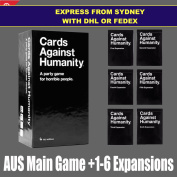 Cards Against Humanity Australian Edition BASE SET & 123456 expansion / EXPRESS COURIER FROM SYDNEY WITH DHL OR FEDEX