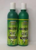 Boe CrecePelo Natural Fitoterapeutico Shampoo 350ml & Natural Fitoterapeutico Rinse 350ml Set by Crece Pelo