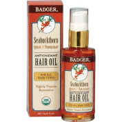 Badger Balm 59.1 ml Seabuckthorn Oil for All Hair Types