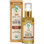 Badger Balm 59.1 ml Jojoba Hair Oil for Itchy Scalp