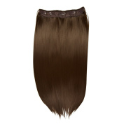 I & K 60cm Synthetic One Piece Straight Clipin Full Head Hair Extension 120 gramme