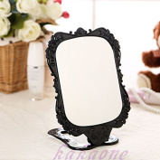 New Desktop Foldable magic mirror Small Size Makeup Stand Mirror Black Rose