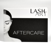 30 LashArt Aftercare Card Eyelash Extensions Full Instructions Included
