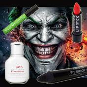 Halloween Joker Make-Up Set Of 4 - Miss Pouty White Liquid Foundation, Stargazer Red Lipstick, Stargazer Black Eye Shadow Pen And Stargazer Green Hair Mascara