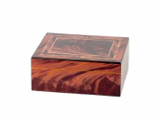 Humidor Exclusive Floral Design Red for Approx. 25 Cigarren