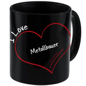 "Mug with ""I Love erectors Modern Black"