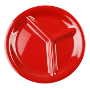 Global Goodwill 12-Piece 3-Compartment Plate, Pure Red