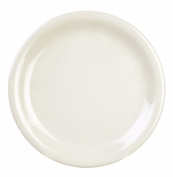 Global Goodwill 12-Piece Narrow Rim Plate, 23cm , Ivory