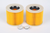 Generic Replacement Cartridge Filter for Karcher WD2200 WD2240 A2200 VC6200 Wet & Dry Vacuum Cleaners,Compare to Part # KAR64145520