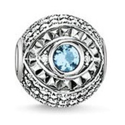 Thomas Sabo Type charm Eye Nazar Bead Silver with Synthetic Zirconia and Spinel 0110-644-1 K