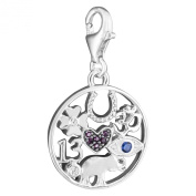 Thomas Sabo Luck Charm Pendant Silver with Synthetic Corundum, Synthetic Zirconia and Spinel 1250-773-7