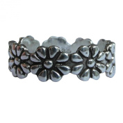 Sterling Silver 925 Adjustable Daisy Flower Toe Ring