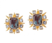 Lele Sadoughi Gold Plated Brass Solstice Starry Night Earrings