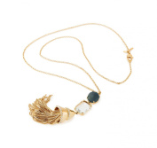 Lele Sadoughi Gold Plated Brass Fishtail Starry Night Pendant with Chain of Length 45cm