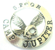 Percy Jackson Camp Jupiter SPQR eagle necklace pendant