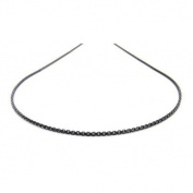 Black Necklace Stainless Steel 60 cm