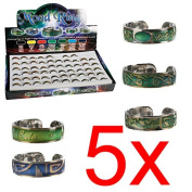 5 X COLOUR CHANGING MOOD RING CHART RINGS ADJUSTABLE CHANGE EMOTION FEELINGS