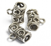 50pcs Hollow Alloy Beads Pendant Charms for DIY Craft Jewellery Making Antique Silver