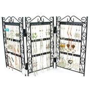 H & S® Screen Stud Earring Jewellery Display Stand Case Unit Holder Storage Organiser ...