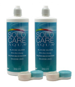 SoloCare Contact Lens Solution Aqua, 2 x 360 ml