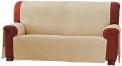 Eysa 1-Square Zoco Non-Elastic Sofa Cover, Beige