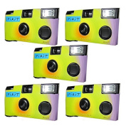 5x Disposable Camera / Wedding Camera / Disposable Camera 27 Photos with Flash, 5 Pack)