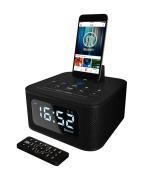 Neptune Speaker Docking Station Bluetooth Alarm Clock FM Radio Lightning Dock for iPhone 5 5S 5C 6 6+ 6S iPad Air Mini iPod