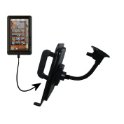 Custom Suction Cup Gooseneck Cradle / Holder Stand for the Laser eBook Media 7 EB850 Tablet