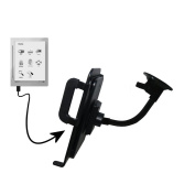 Unique Suction Cup Mount for the iRex Digital Reader 800 Tablet with Integrated Gooseneck Cradle Holder