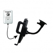 Gooseneck Holder Base with Suction Cup Mount compatible with Hanvon WISEreader N526 Tablet