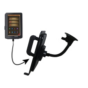 Gooseneck Holder Base with Suction Cup Mount compatible with Laser eBook Media 7 EB720 Tablet