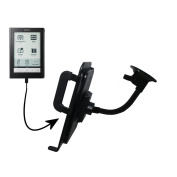 Unique Suction Cup Mount / Holder Stand designed for the Sony PRS-600 Reader Touch Edition Tablet