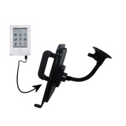 Unique Suction Cup Mount for the Netronix Pocketbook 302 Tablet with Integrated Gooseneck Cradle Holder