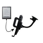 Unique Suction Cup Mount for the Sony PRS-700BC Digital Reader Tablet with Integrated Gooseneck Cradle Holder