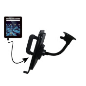 Gooseneck Holder Base with Suction Cup Mount compatible with Elonex 702ET eTouch Android Tablet Tablet