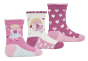 3 Pairs TICK TOCK Baby Girl Design Socks Cotton Rich Fairy Glitter Frill Newborn