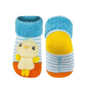 Baby Rattle Socks in Chick Design, One Size Fits All, 0-12 Months