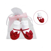 Baby Emporio - 1 Pr - Baby Girl Socks for Baby Girls 0-9 M - Gift Pouch with Tag