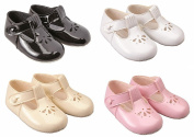 Baypods baby girls soft pram shoes by Early Days 0-3 months WHITE