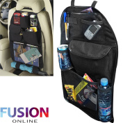 KIDS UNIVERSAL CAR BACK SEAT TIDY HANGING MULTI POCKET TRAVEL STORAGE organiser Fusion