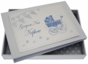 White Cotton Cards New Nephew Tiny Album