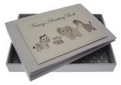 White Cotton Cards Nanny's Boasting Book Silver Toys Tiny Album