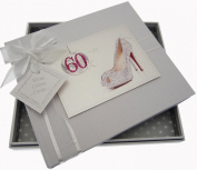 White Cotton Cards 60th Birthday Guest Book Glitter Ball and Shoes