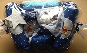 "Newborn Baby Boy ""Bears and Blankets"" Hamper - EXCLUSIVE TO THE GIFTBOX ONLY - Stunning free. Message Option"