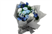 Deluxe Newborn Baby Boy Flowers Hamper Exclusive to THE GIFTBOX - Wrapping & Message Option