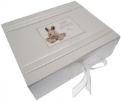 White Cotton Cards Baby Shower Keepsake Box