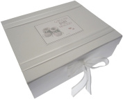 White Cotton Cards Gorgeous Baby Memories Album Keepsake Box