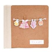 Photo Album Dress - BebeDeParis- Pink- Ideal baby gift